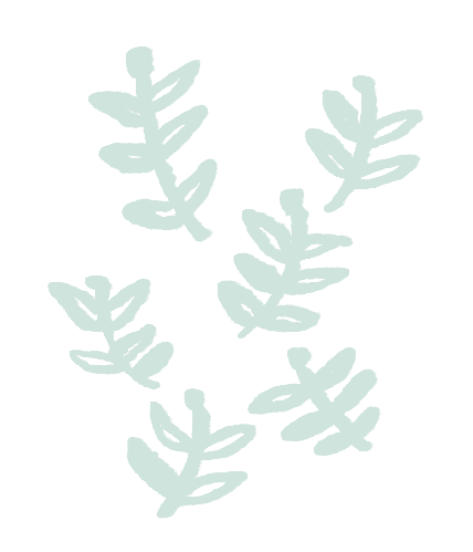 viele kleine Stengel mit kleinen Blättern mit schwarzem Pinsel illustriert| Edda Grünberger Psychotherapeutin Linz | Illustration: Silke Müller